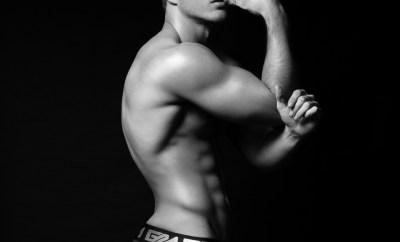 Model Thomas Keal by Fashion Photogrpaher Brian Jamie for Garcon Model Underwear sporting black brief Square Social Media #4