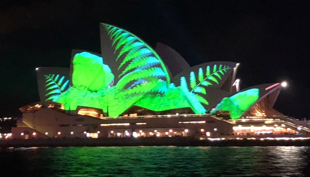opera house vivid green leaf