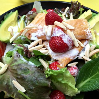 strawberry salad dressed
