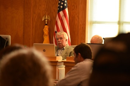 Bruce Hoffman, Dahlonega City Council member, made the motion to grant the appeal for the demolition of the Parks building. (Photo by Erin Higdon)