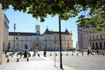 COIMBRA, PORTUGAL - JULY 31, 2016: University building of Coimbra, Portugal