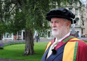 John Cleese received an honorary Doctorate in Clinical Psychology