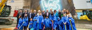 Official groundbreaking ceremony marks the first step in building a new SickKids. (CNW Group/SickKids Foundation)