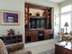 Cherry niche cabinet with LED illumination