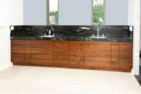 Grain Matched quarter-sawn walnut vanity