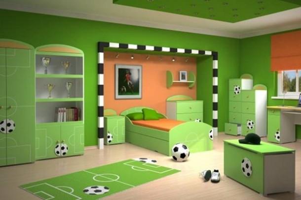 サッカー好きすぎる子供部屋