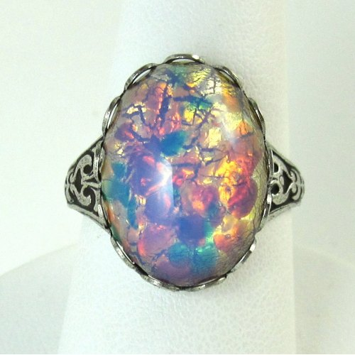 Medium Crop Of Opal Wedding Rings