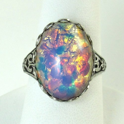 Medium Of Opal Wedding Rings