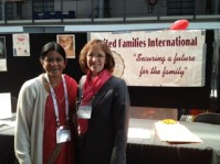 Laura bunker with Suja Koshy