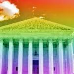 supreme court in rainbow colors