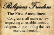Religious Freedom, 1st Amend.
