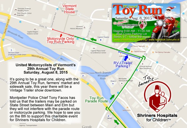 Downtown Montpelier Toy Run