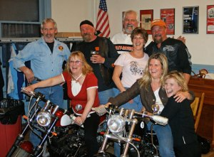 UMV members with the two Kikker Motorcycles
