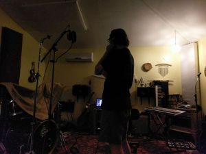 In the studio with Steve