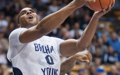 Brandon Davies goes up for a layup during a game against Tennessee State last season. Photo by Universe Photographer.