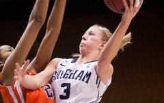 BYU guard Ashley Garfield shoots a layup
