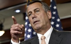 "The National Republican Congressional Committee has issued a fundraising pitch on its website asking people to become a ""Benghazi Watchdog"" by donating money to GOP election efforts. Boehner has said that the examination would be ""all about getting to the truth"" of the Obama administration's response to the attack and would not be a partisan, election-year circus. (AP Photo/J. Scott Applewhite)"