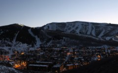 A scenic look at Park City at dusk.  (Photo courtesy of Park City Mountain Resort)