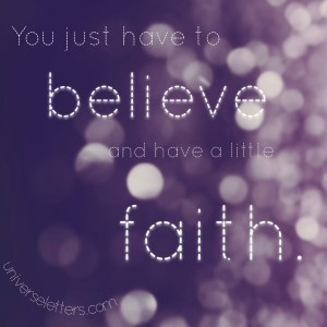 believe and faith