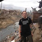 Nima Accra, Open Sewer. Ghana, Africa.