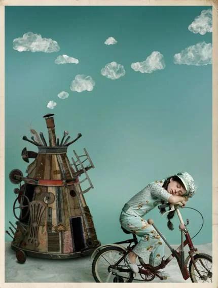 bimbo con bicicletta