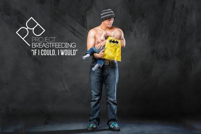 uomo allatta figlio