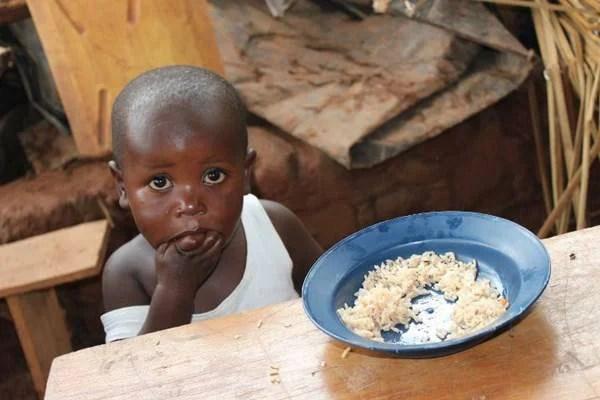 bambino mangia riso
