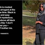 #MamanistaFridays | Dressed in All Black……