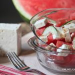 summer lunch | Freschetta and Watermelon Cucumber Feta Salad