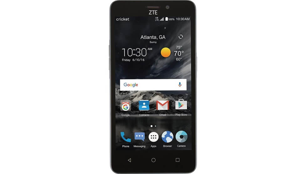 there, just zte sonata 3 cricket select