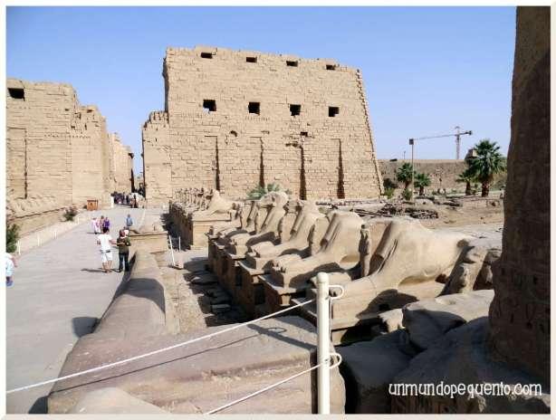 Templo de Karnak avenida de los Carneros