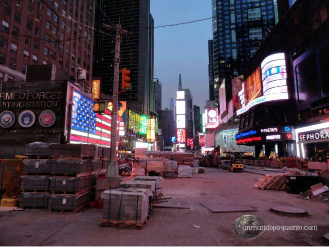 Times Square sin maquillaje