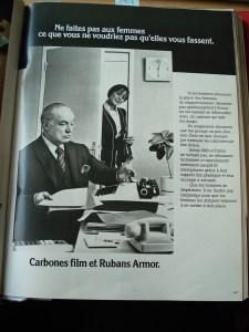 1974 carbone film et ruban