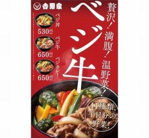 吉野家ベジ丼八重洲口限定全国カロリー味