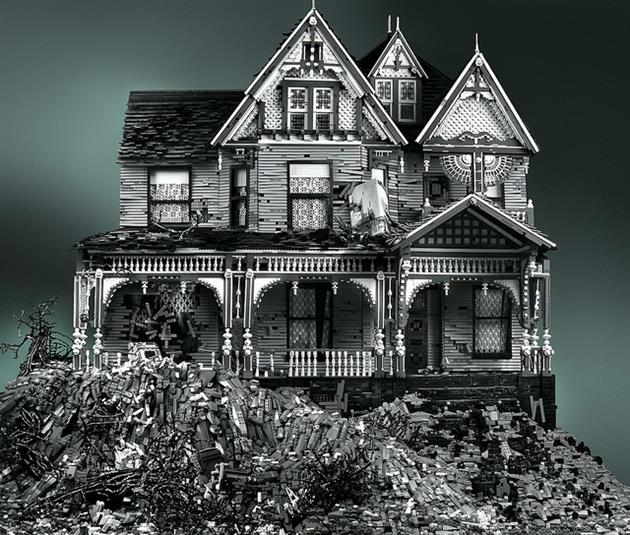 Abandoned-LEGO-Victorian-Houses-by-Mike-Doyle-1