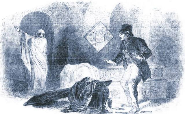 Jesus, Larry. Quit breaking my shit. I told you not to touch anything. {From The London Journal, 1863.}
