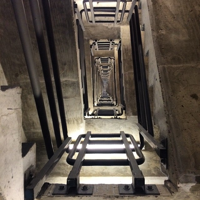 Ever wonder what a 40 story stairwell looks like?