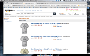 """Oh come on, Amazon.co.uk – Nothing like """"get your rape gear"""""""