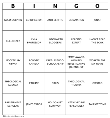 #thelostgospel press conference Bingo game!