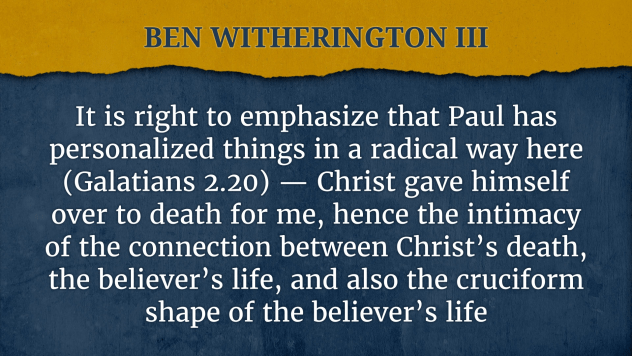 ben witherington quote jesus death