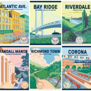 10 Colorful Posters of NYC Neighborhoods in See Your City Campaign Expansion