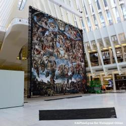 Michelangelo's Sistine Chapel Paintings Takes Center Stage Inside World Trade Center Oculus