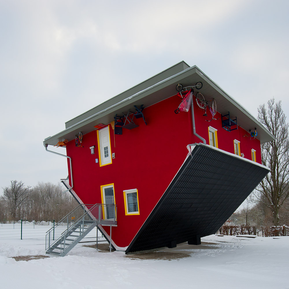 Upside Down House Unusual Places