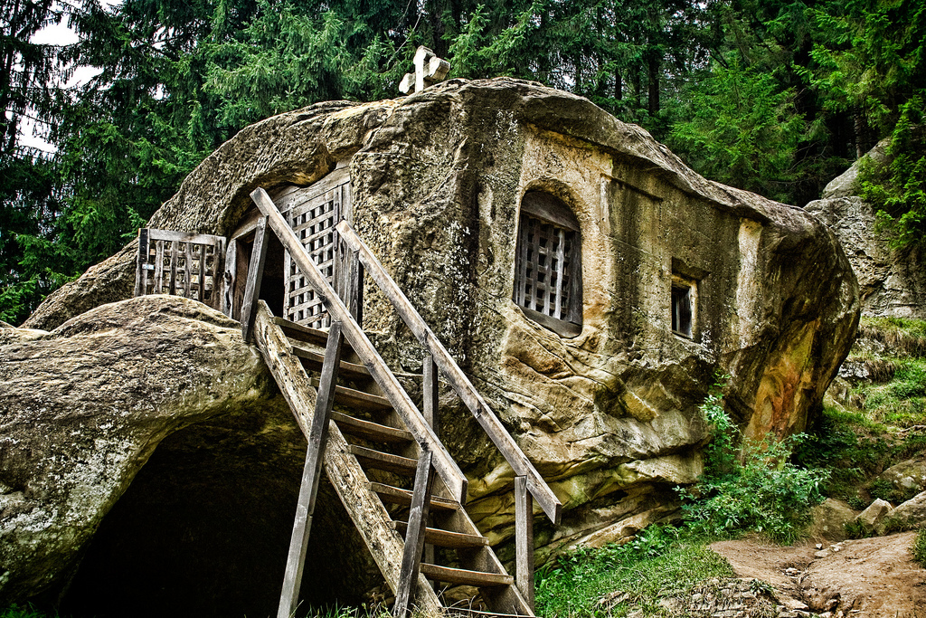A 15th Century Old House Carved From Stone By A Romanian