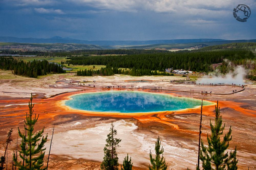 Mermaid lagoon (Grand Prismatic spring, Yellowstone, USA)