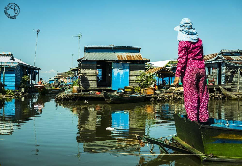 Un PUEBLO FLOTANTE de Camboya, Kompong Luong
