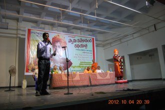 Dr. N. Ramagopal giving the vote of thanks