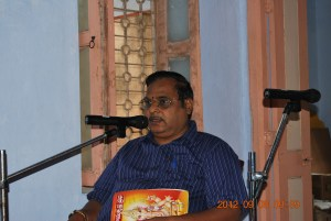 Prof. P. Syamasundara Murthy addressing the devotees 8 Sep 2012