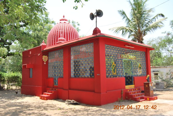 Newly painted Poleramma Temple