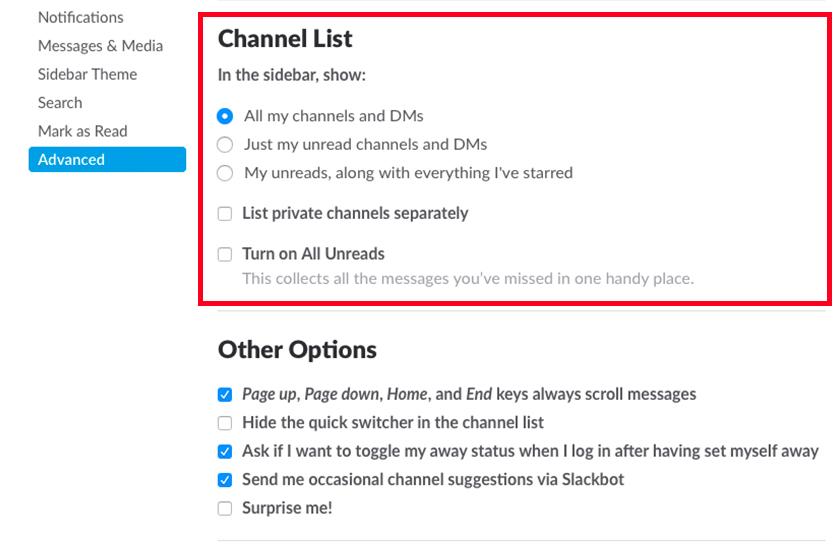 channellist